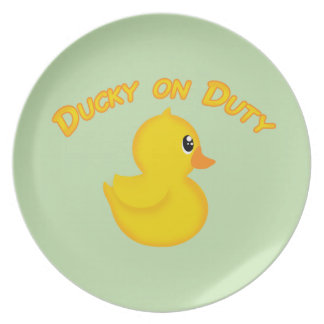 Ducky on Duty Plate