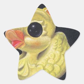 ducky calcomanías forma de estrellaes