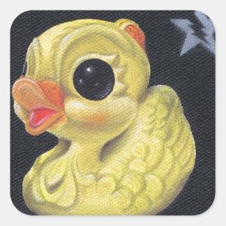 ducky pegatina cuadrada