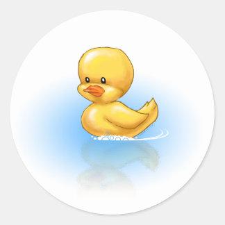 Ducky Pegatina Redonda