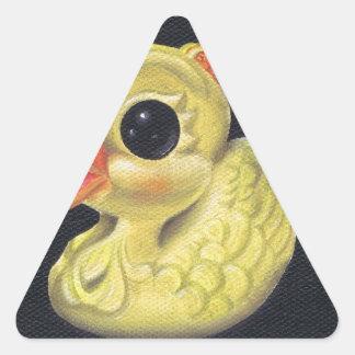 ducky pegatina triangular