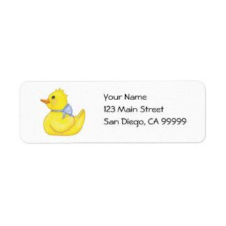 Ducky querido con Blue Ribbon Etiquetas De Remite