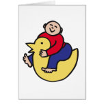 Ducky Rider Greeting Cards