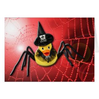 Ducky Spiderwoman! Greeting Card