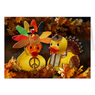 Ducky Thanksgiving! Greeting Cards