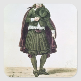 Ducroisy en el papel protagonista de Tartuffe Pegatina Cuadrada