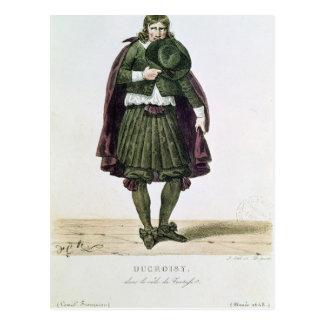 Ducroisy en el papel protagonista de Tartuffe Tarjeta Postal