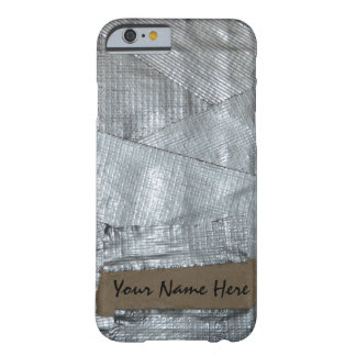 Duct Tape and Ripped Cardboard Tag Barely There iPhone 6 Case
