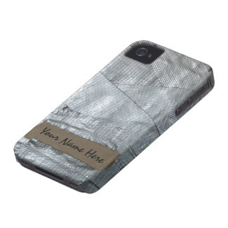 Duct Tape and Ripped Cardboard  Tag iPhone 4 Case
