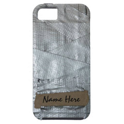 Duct Tape and Ripped Cardboard  Tag iPhone SE/5/5s Case