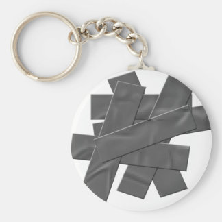Duct Tape Basic Round Button Keychain