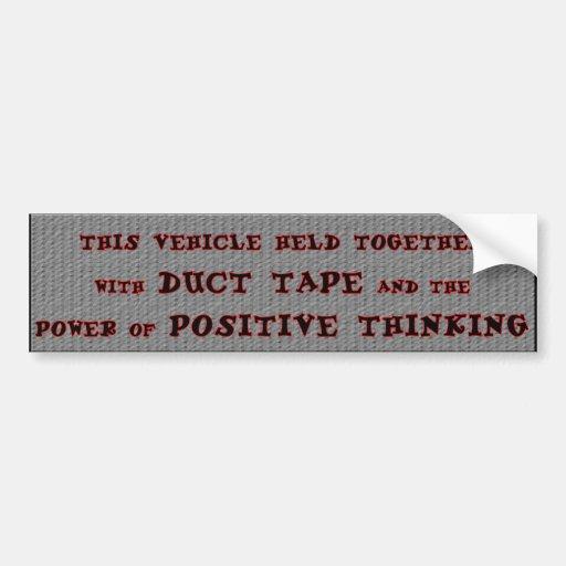 Duct Tape Car Bumper Sticker