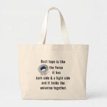 Duct Tape, Engineering humor Large Tote Bag