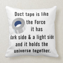Duct Tape, Engineering humor Throw Pillow