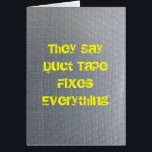 """Duct Tape Get Well Soon Card<br><div class=""""desc"""">Does duct tape fix everything?  Hopefully it will at least make someone laugh when they don&#39;t feel like it.  Just a humorous Get Well Soon Card.</div>"""