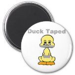 Duct Tape Humor Yellow Duck Taped 2 Inch Round Magnet