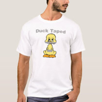 Duct Tape Humor Yellow Duck Taped T-Shirt