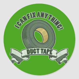 Duct Tape, I can Fix anything Sticker