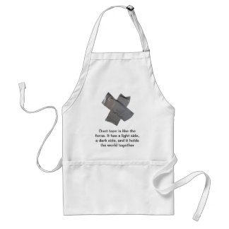 Duct tape is like the force... adult apron