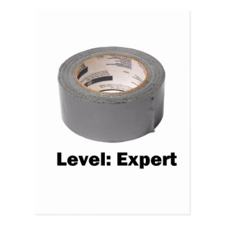 Duct Tape Level Expert Postcard