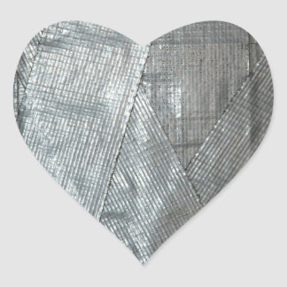 Duct Tape Love Heart Sticker