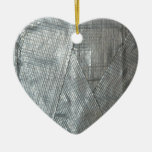 Duct Tape Love Double-Sided Heart Ceramic Christmas Ornament