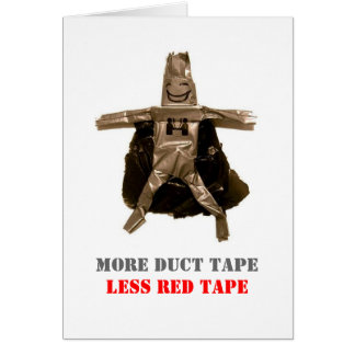 Duct Tape Man Greeting Cards