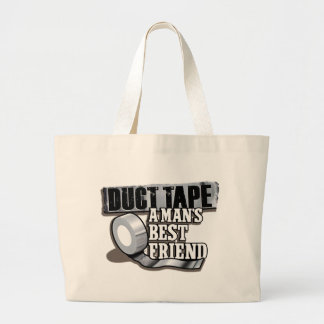 Duct Tape Mans Best Friend Large Tote Bag