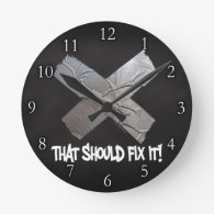 Duct Tape Should Fix It Clock