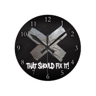 Duct Tape Should Fix It Round Clock