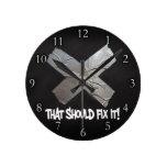 Duct Tape Should Fix It Round Wall Clocks
