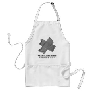 duct tape - silence is golden duct tape is silver adult apron