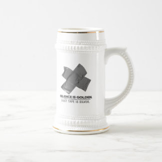 duct tape - silence is golden duct tape is silver beer stein