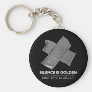 duct tape - silence is golden duct tape is silver keychain