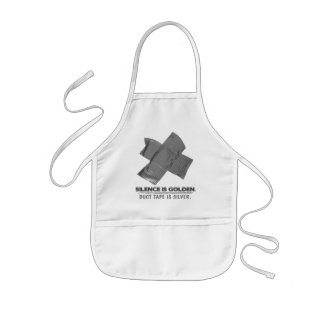 duct tape - silence is golden duct tape is silver kids' apron