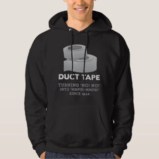 duct tape - turning no! no! into mmph! mmph! funny hoodie