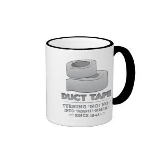 duct tape - turning no! no! into mmph! mmph! funny ringer coffee mug