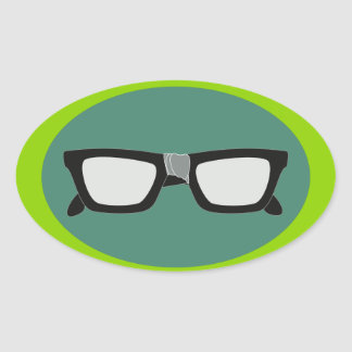 Duct-Taped Glasses Oval Sticker