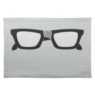 Duct Taped Glasses Cloth Placemat