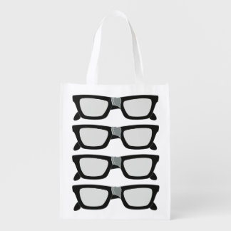 Duct Taped Glasses Grocery Bags