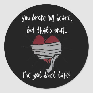 Duct Taped Heart Stickers