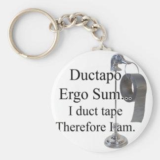 DuctTapo Basic Round Button Keychain