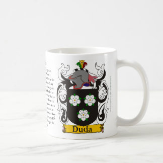 Duda, el origen, el significado y el escudo taza