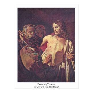 Dudar a Thomas de Gerard Van Honthorst Tarjetas Postales