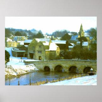 Duddington snow scene poster