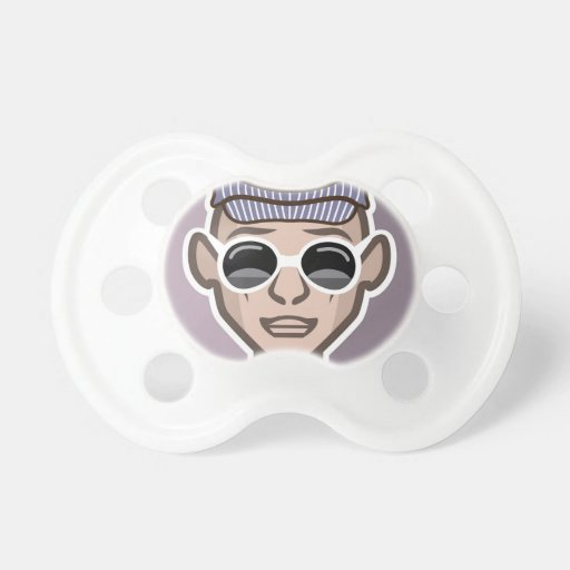 Dude Avatar Glasses Hat BooginHead Pacifier