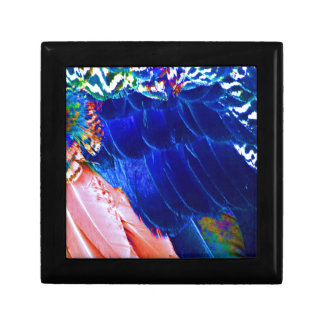 Dude Blue Peafowl Feather Jewelry Box