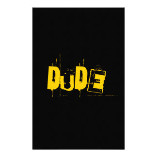 Dude Cool Artwork Stationery