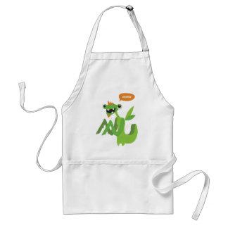 dude, cute cool animal cartoon design adult apron