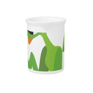 dude, cute cool animal cartoon design pitcher